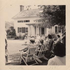 Gatherings on the front lawn